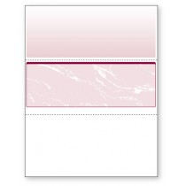 Blank Laser Middle Check Paper, Burgundy