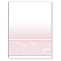 Blank Laser Bottom Check Paper, Burgundy