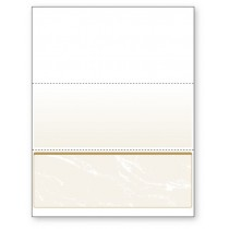 Blank Laser Bottom Check Paper, Gold