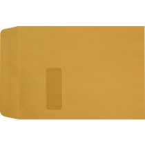 9 x 12 Open End Brown Kraft Imprint Window Envelopes