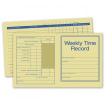 Pocket Size Weekly Time Records, 7 X 4 1/4""