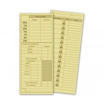 "3 1/2 X 8 1/2"" Daily Job Time Card"