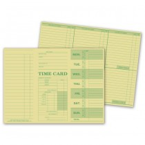 Weekly Time Card, Tag Stock, 10 3/8 X 7 3/4""