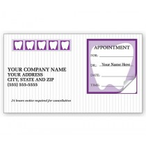 Dental Appointment Cards, Peel And Stick, Tooth Design