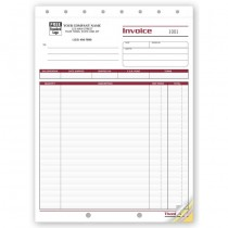 Shipping Invoice - Large,  8 1/2 X 11""