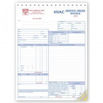 HVAC Service Work Order, Form and invoice E