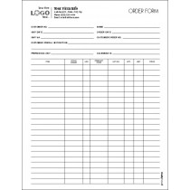 Multi Purpose Order Entry Form, Style #3