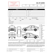 Auto Transport  Bill of Lading with 1 Car , No name Printed