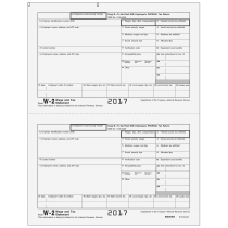 W-2 - Copy B - Employee Federal IRS - 2up