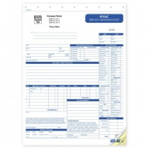 HVAC Service Work Order,  Form and invoice D