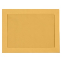 9 x 12  Full Face  Brown Kraft Blank, Window  Envelopes