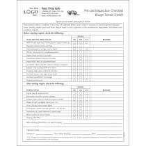 Forklift saftey Inspection Checklist Form