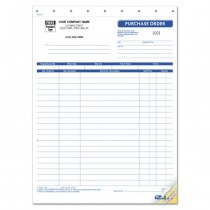 Purchase Order Form, 8 1/2 X 11""