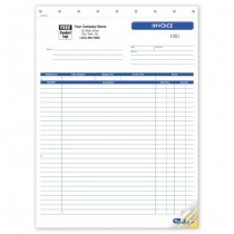Shipping Invoice, Large,  8 1/2 X 11""
