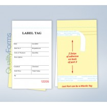 Carbonless Inventory Tag