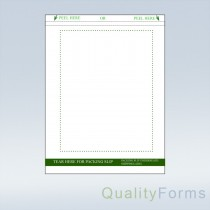 Duplex Laser Shipping Label/ Packing Slip