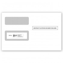 2016 1099 2-Up Double-Window Envelope, Self-Seal