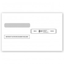 2016 4-Up Box Laser W-2 Double-Window Envelope, Self-Seal