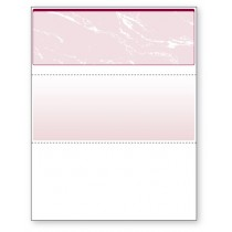 Blank Laser Top Check Paper, Burgundy