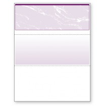 Blank Laser Top Check Paper, Purple