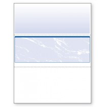 Blank Laser Middle Check Paper, Blue
