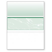 Blank Laser Middle Check Paper, Green