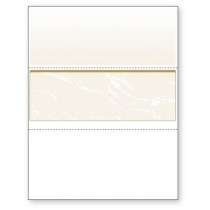 Blank Laser Middle Check Paper, Gold