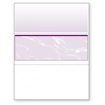Blank Laser Middle Check Paper, Purple