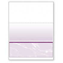 Blank Laser Bottom Check Paper, Purple