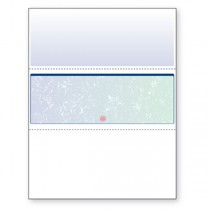 Blank Laser Check Blue/Green Prismatic Check in Middle