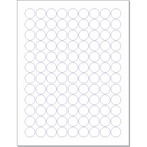 "8-1/2"" x 11"" 108 Labels per Sheet 3/4"" Round"