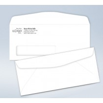 Imprinted Envelope,w/window, # 9, 3 7/8 x 8 7/8