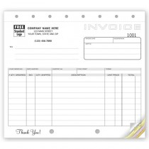 """Classic, Small Shipping Invoices,  8 1/2 X 7"""""""