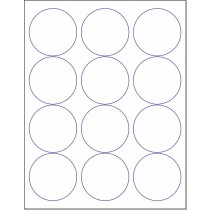 "8-1/2"" x 11"" 12 Labels per Sheet 2-1/2"" Round"