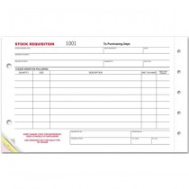 Stock Requisition Form, 5 1/2 X 9 1/4""