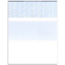 Blank Laser Top Check Paper, Blue