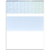 Blank Laser Top Check Paper, Blue/Green Prismatic