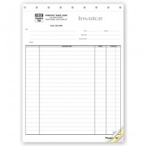 Contractor Invoice - Itemized Invoice for Large Jobs,  8 1/2 X 11""