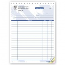 Job Invoice Form - Large,  8 1/2 X 11""