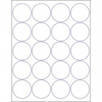 "8-1/2"" x 11"" 20 Labels per Sheet 2"" Round"