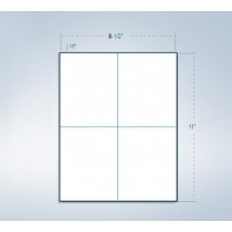 "8-1/2 x 11"" Sheet with 1 vert. perf  in 1 Horizontal perf @ the center"
