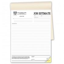 Job Estimates - Booked, 8-1/2 x 11""