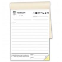 """Job Estimates - Booked, 8-1/2 x 11"""""""