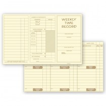 Pocket Size Weekly Time Cards, 8 X 5""