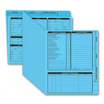 Real Estate Folder Right Panel List Letter Size, Blue