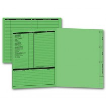 Real Estate Folder Left Panel List Letter Size, Green