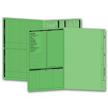 Real Estate Folder, Left Panel List, Legal Size, Green