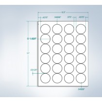 "8-1/2"" x 11"", 24 Labels, per Sheet, 1.625"" x 1.625"""