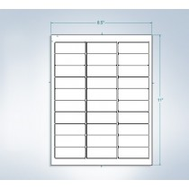 "8-1/2"" x 11""  30 Labels per Sheet 2.625"" x 1"" Each Label"