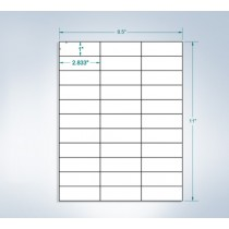 "8-1/2"" x 11"", 33 Labels, per Sheet,2.8"" x 1"""